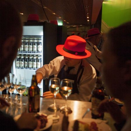 Redhat Bar at Jfokus. One of the greatest programming events in the world. Proud to be the photographer. Party Beer
