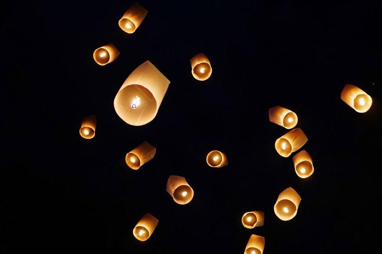 Celebration Night Hope Lanterns Lantern Festival Hope Lantern