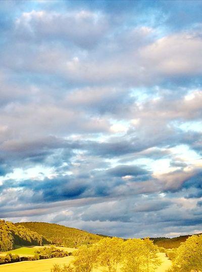 Abendhimmel Himmel Himmel Und Wolken