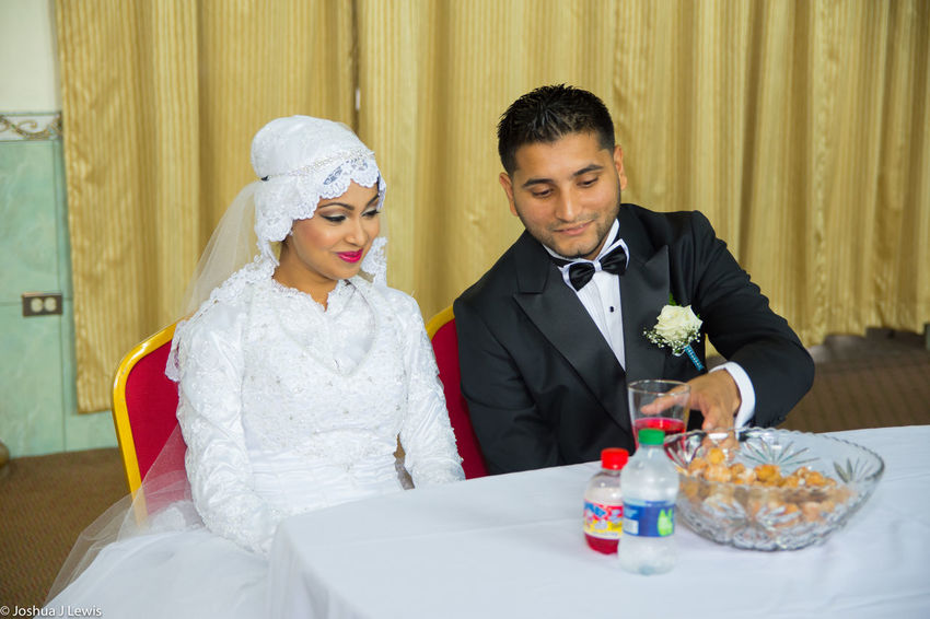 Two People Couple - Relationship Love Celebration Togetherness Wedding Ceremony Bridegroom Event Happiness Couple Sitting Life Events Place Of Worship Beautiful Trinidad And Tobago Caribbean Muslimwedding Religion Glass