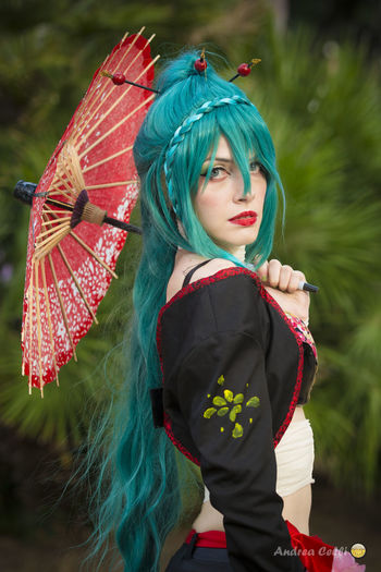 Cosplay Hair SamuraiGirls Beautiful Woman Cosplayer Cosplaygirl Day Glamour Japanstyle Lifestyles Longhair One Person Outdoors Photography Portrait Portraitgirl Samurai Vocaloid