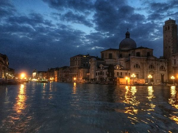 Grand canal at night Grand Canal Venice