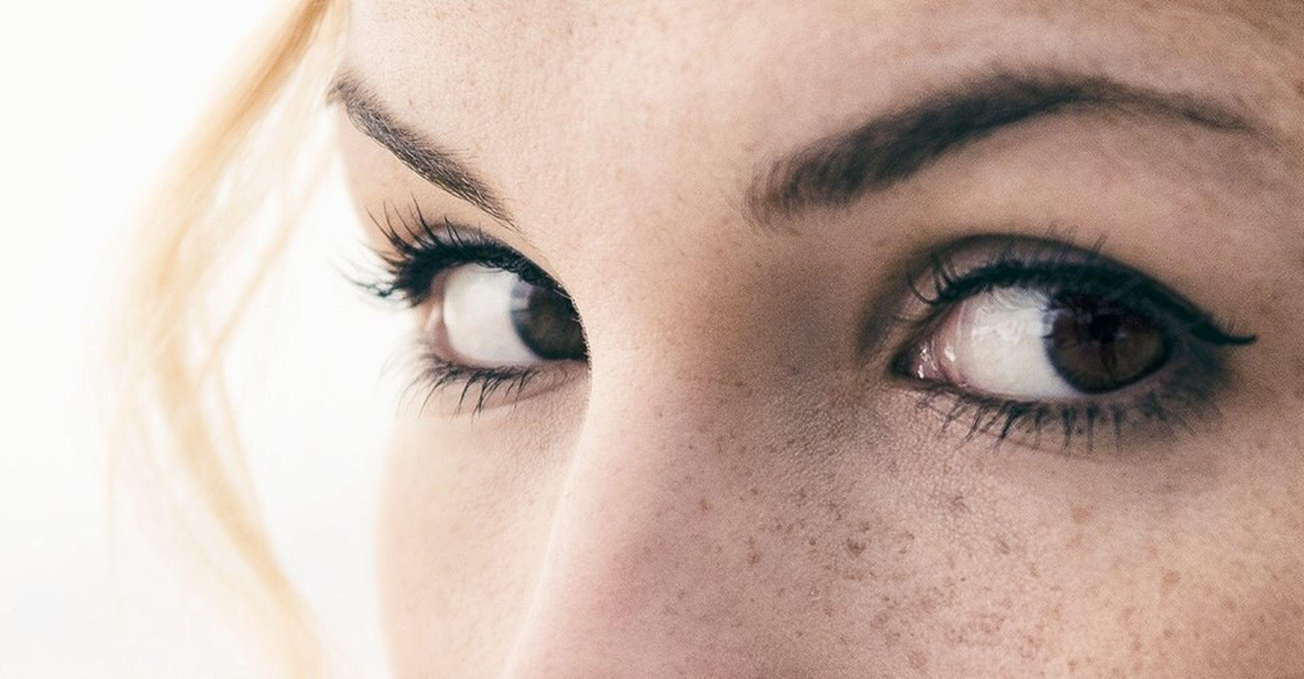 close-up, human eye, indoors, part of, human skin, eyelash, human face, eyesight, sensory perception, looking at camera, extreme close-up, portrait, lifestyles, headshot, cropped, extreme close up, eyeball