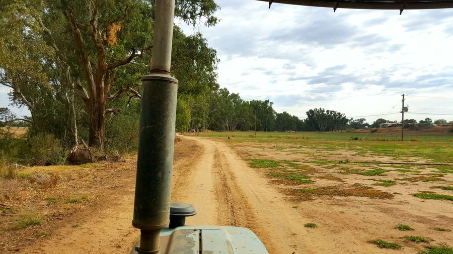 Farm Life Farm Turf Farm Tractor Fence Australia Dubbo River Riverside Farm Dirt Road Tyre Tracks Trees Australian Outback Bush Life Work Living The Dream