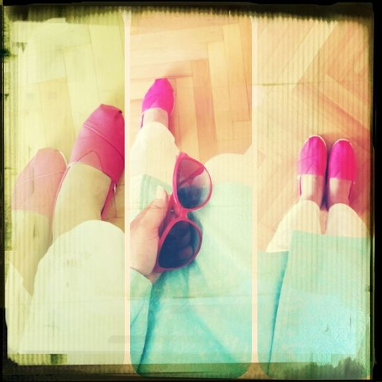 Styling pink toms.like it Coolin
