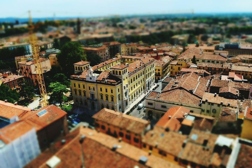 Miniature view over Verona, italy Architecture Building Exterior High Angle View Outdoors Overview High Angle View Selective Focus Plush Verona Italy Italy 🇮🇹 Italy Photos Miniature View Buildings