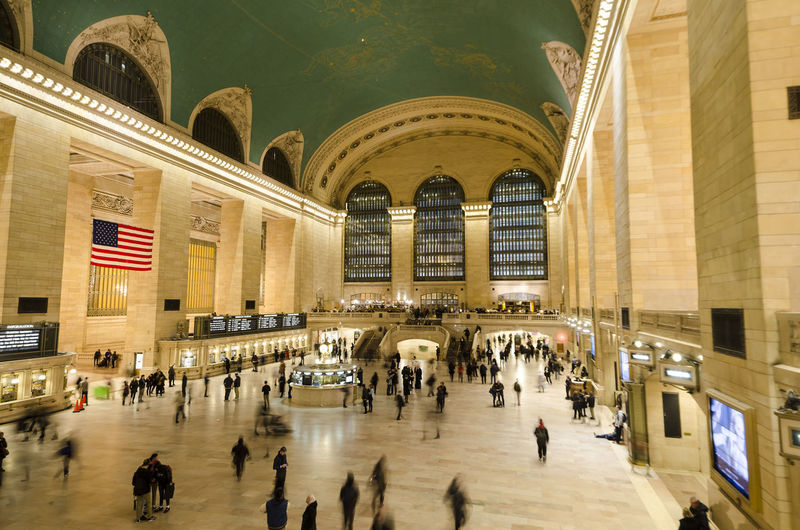 People in grand central station