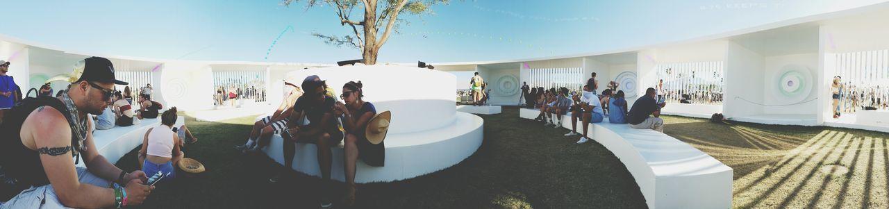Taking 5 in the Portal Hanging Out Coachella2016 Coachella Panorama Festival California Art Music Friends