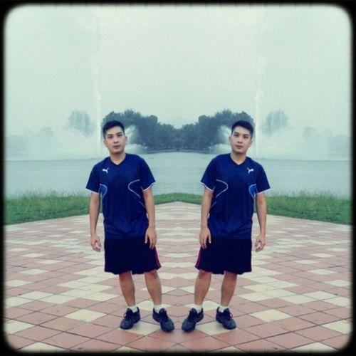 Twin Farel & Mikhail beriadah time.. at tasik titiwangsa Sweating Jogging Exercise Beriadah running tasik titiwangsa bersenam mengeluarkanpeluh dahgemuk