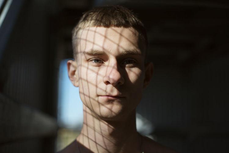 Portrait of man in sunlight