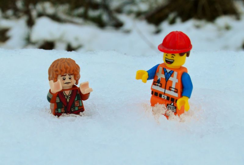 Adventure Bilbo Baggins Bit Of Fun Check This Out Childhood Day Emmet Enjoyment Fun Funny Laugh Laughing LEGO Lego Minifigures Leisure Activity LMAO LOL Nikon D3200 Sad Smile Snow Snow ❄ Toys Winter