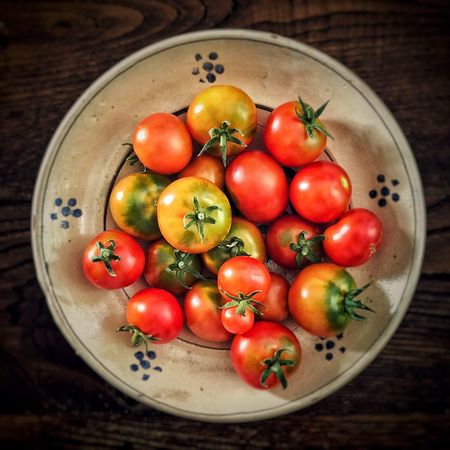 Healthy Eating Food Wellbeing Food And Drink Fruit Freshness Directly Above Still Life No People Red Tomato Vegetable Close-up