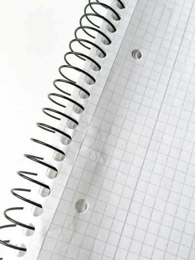 Close-up of spiral paper