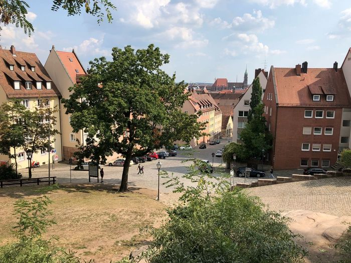 Nürnberg Nuremberg Old Town Nuremberg Building Exterior Architecture Built Structure Sky Tree Plant Building Cloud - Sky Nature City Day House Residential District Outdoors Sunlight Street Car No People