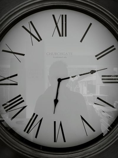 No time left End Of Time Times Up Ten Past Six Reflection Blackandwhite Black And White Black & White Clock Face Minute Hand Clock Roman Numeral Time Hour Hand Business Black Color Close-up Instrument Of Time Clock Hand Wall Clock