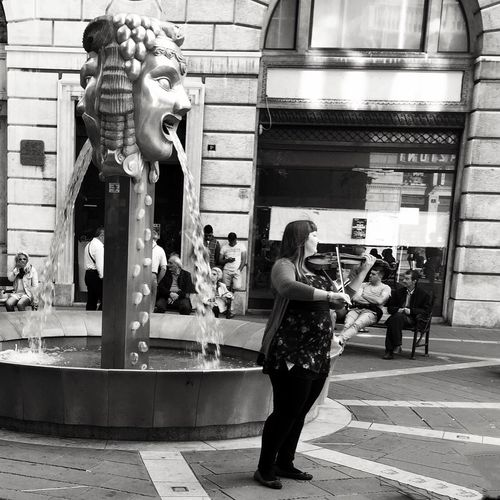 Street musician Trieste
