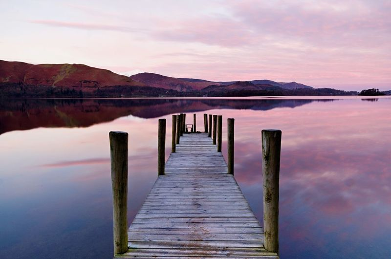 Most photographers that visit the Lake District will come here, Ashness jetty on Derwent Water, and you can see why! Just out of the right of frame are snow capped hills too! It's a shallow part of the lake so on a still morning there are perfect reflections. EyeEmNewHere Water Nature Beauty In Nature Tranquility Tranquil Scene Reflection Derwentwater Lakedistrict Lake