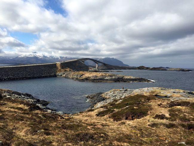 Atlanterhavsveien Fjord Neige Norge Norvège  Printemps Route De L'atlantique Snow