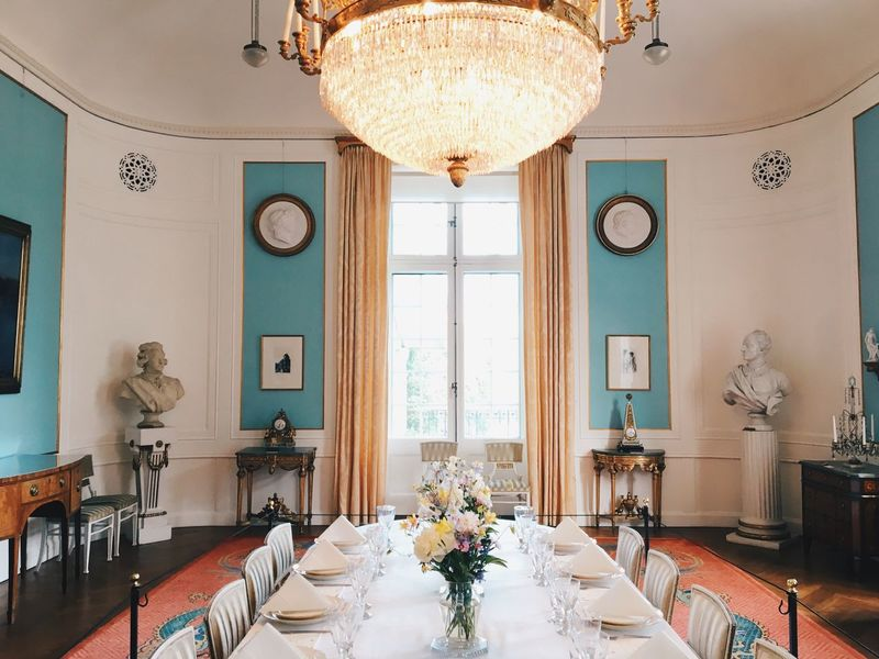 Table Indoors  Window Dining Table Home Interior Architecture Europe Culture Historical Building Sweden Stockholm Interior Design Interior Design