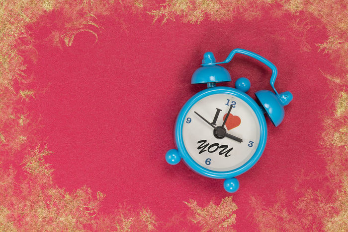 Blue Clock Clock Clock Face Close-up Day High Angle View Hour Hand Indoors  Minute Hand No People Time