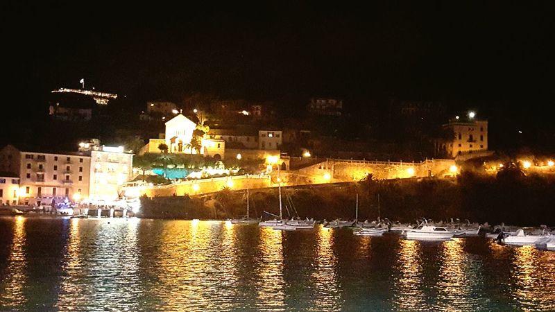 Sestri Levante Italy Baia Del Silenzio Sea Liguria Liguria Di Levante Mare Beach Genova Genoa Night Sea Galaxy S6 Boats Bay Lights In The Dark