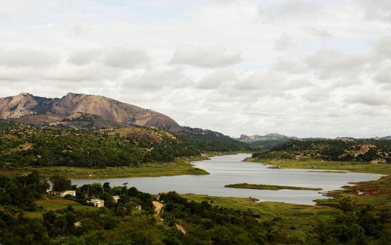 Asias Biggest Monolithic Rock Beauty In Nature Day Landscape Monolith Mountain No People Outdoors Savandurga Scenics Tranquil Scene Travel Destinations Tree