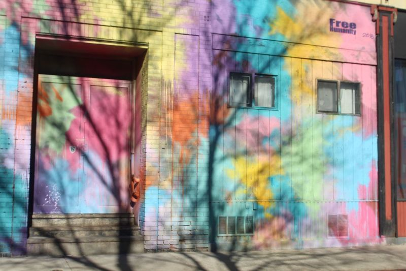 Architecture Graffiti Multi Colored Blurred Motion Built Structure Wall - Building Feature City
