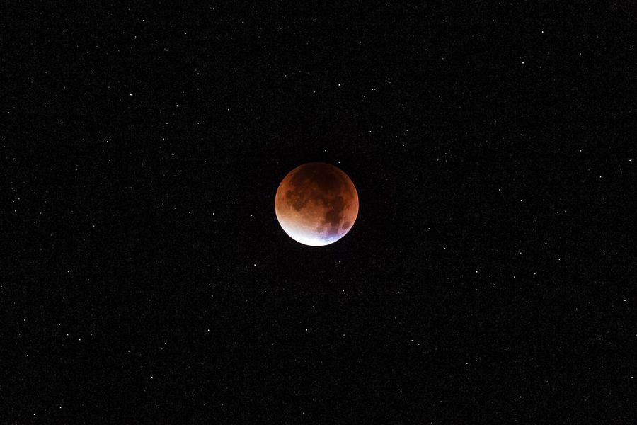 Astronomy Bloodmoon Blutmond Dark Glowing Light Mystery Night Red Moon Shiny Space Star Star Field