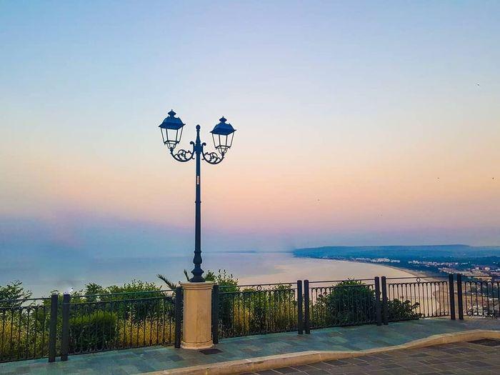 Sky Street Light Lighting Equipment Street Water Nature Sunset