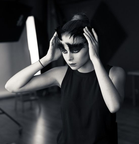 Women Beauty Young Adult Females One Person Beautiful People Adult Emotion Arts Culture And Entertainment Human Face Young Women Loneliness Depression - Sadness Dark Monochrome One Woman Only Sulking One Young Woman Only Swan Black Swan Blackandwhite Photography Model Ballett Backstage Dark Beautiful Girl