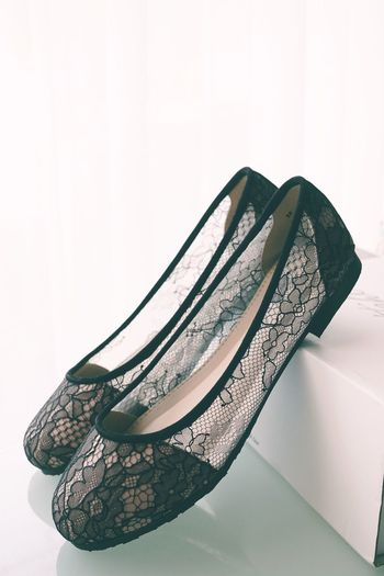 in lace shoes