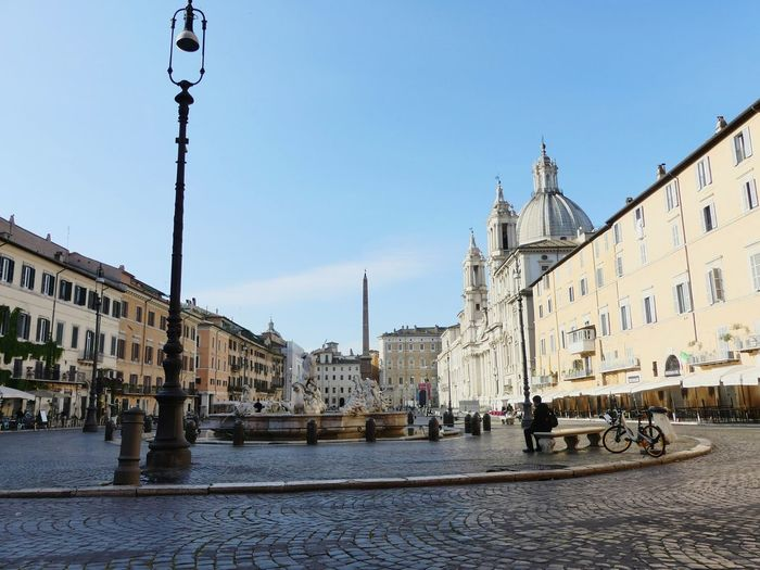 Low Angle View Of Piazza Navona Against Sky