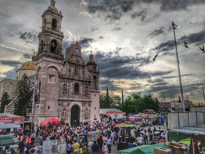 Feria de San Marcos 2018 Architecture Colonial Mexico Aguascalientes Feria De San Marcos Arquitecture Mexican Culture Papantla Festival Crowd City Arts Culture And Entertainment Religion Tree Sky Architecture Building Exterior Cloud - Sky Church Cathedral Temple - Building EyeEmNewHere Adventures In The City
