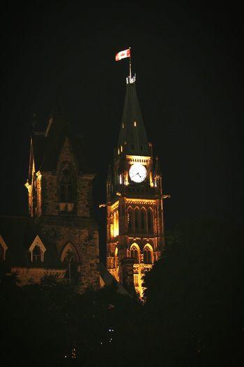 Parliament Hill Ottawa Canada from Major's Hill Park.