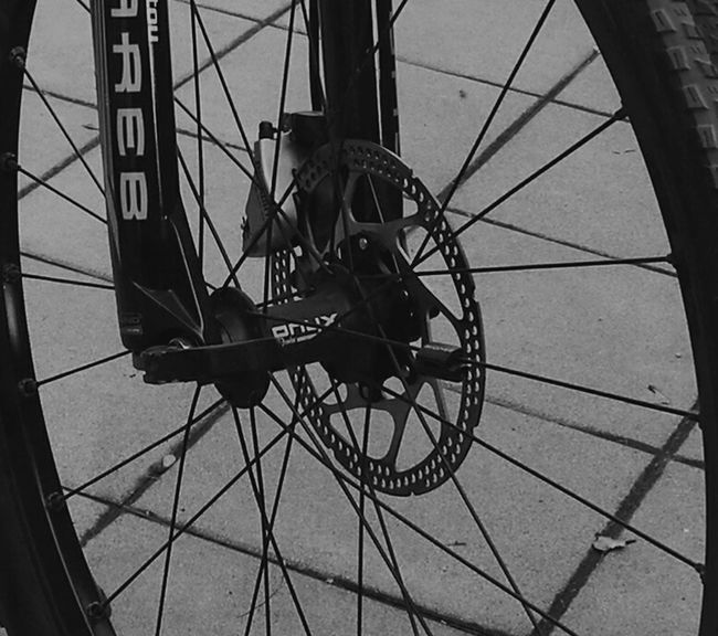 Bicycle Mode Of Transport Wheel Spoke Transportation Land Vehicle No People Outdoors Day Sky Montainbike Blackandwhite Black And White Blackandwhite Photography