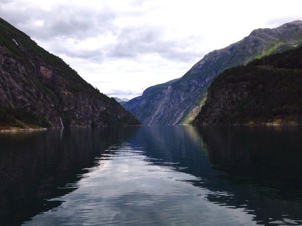 Norway Taking Photos Nature Summer Summertime Fjord Mountains Water Water Reflections Moments Beautiful On Tour Relaxing Clouds And Sky Beautiful Nature Landscape