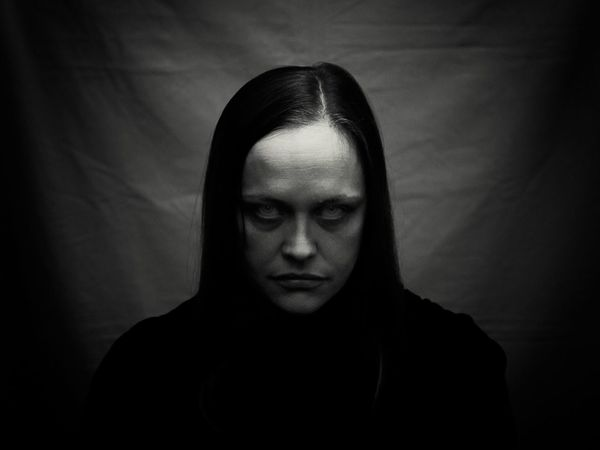 Neva. One Person Front View Looking At Camera Human Face Portrait Evil Vampire Vamp People Eric Imbs Light And Shadow Ericimbs Monochrome Black And White Blackandwhite Monochrome Photography Headshot
