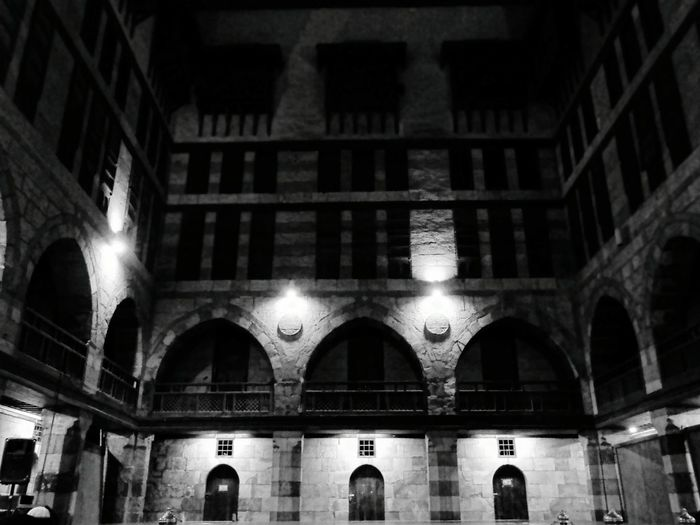 Built Structure Architecture Illuminated Building Exterior Low Angle View No People Outdoors Sky Day Low Angle View Illuminated Building Folklore Egyptian Art A Night To Remember Islamic Architecture Wekalet Ghuri Music Is My Life Electricity  Egyptian Folklore Music Festival A Night Out Music Photography