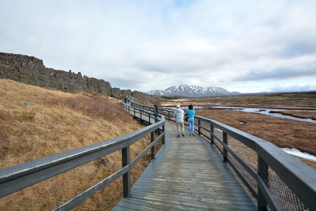 Pingvellir National Park, Iceland Adult Beauty In Nature Leisure Activity Mountain Nature Outdoors Pingvellir Railing Rear View Scenics Sky Togetherness Travel Destinations Travel Photography Women