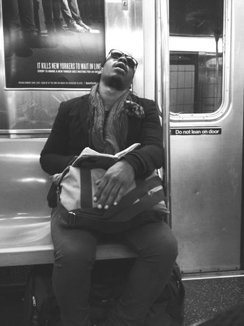 The Human Condition Relaxing West Village Subway People Subway Commuter NYC Photography Underground
