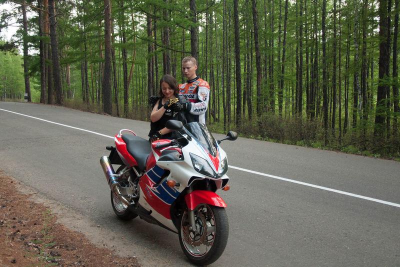 Two People Motorcycle Day влюбленные Nikond90 Чита Honda мотоцикл Motorcycle D90 Nikon байк Motorbike