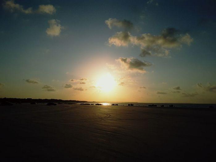 City of Salinópolis, Atalaia Beach, State of Pará, Amazon, Brazil. Sea Sunset Nature Scenics Horizon Over Water Water Beach