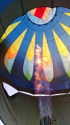 Fire Tech. Fire Hot Air Balloon Festival Technology Traveling Inside Behind The Scenes Blue Flame Colors Humanity Meets Technology Multi Colored Close-up Geometric Shape Mosaic Full Frame