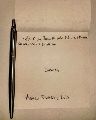 Notadeldia Escribiendo PaperEneltexto Pen Caracas Venezuelan Desk Writtingagain God Faith Dios Fé