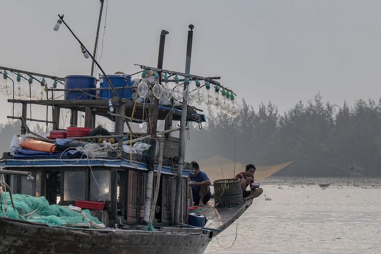 Fishermen rest