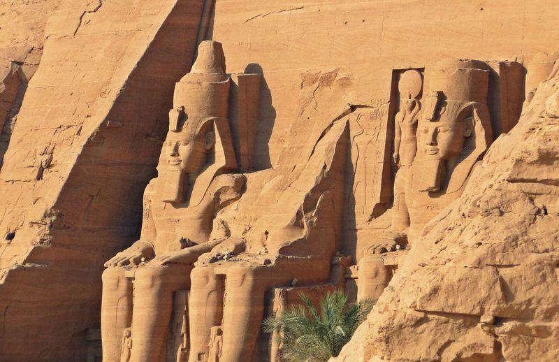 Pharaohs Carving On Abu Simbel Temple
