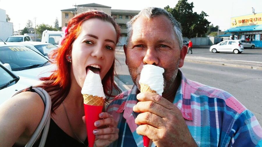 Original Experiences Icecreamtime. FunnyFaces BestFatherEver. FatherAndDaughterTime . FamilyMatters.