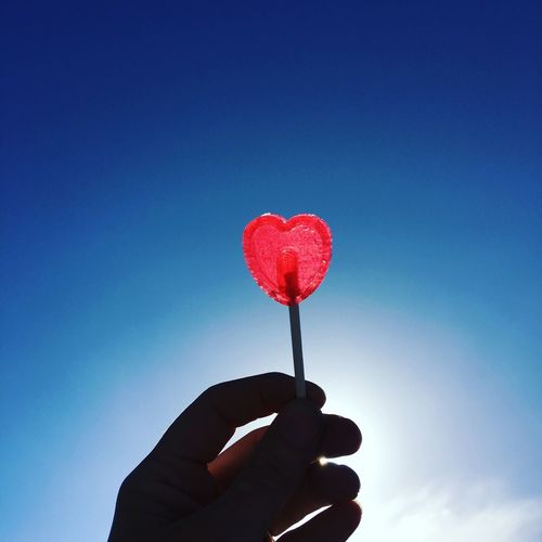 Love Hart Pink Red Blue Lollypop Lolly Sky Show The Love Corazón