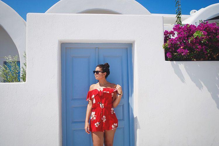 Woman Standing By Door