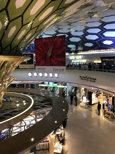 Photopackers Oksk Abudabi Architecture Built Structure Indoors  Incidental People Shopping Mall City Ceiling High Angle View Shopping Day